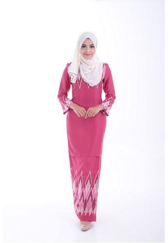 Kurung Modern Adlina (Pink) from Nur Shila in Pink