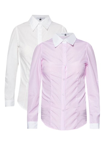 Iris & Inez 二入組長袖襯衫, zalora退貨服飾, 襯衫