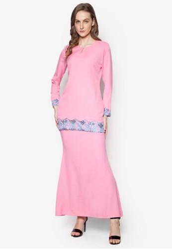 Baju Kurung Modern from Gene Martino in Pink