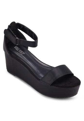 zalora 泳衣Victoria 厚底包跟涼鞋, 女鞋, 楔形涼鞋