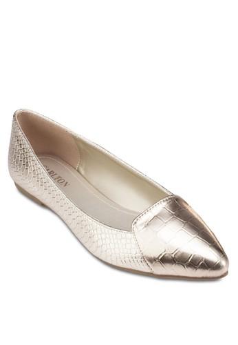 尖頭亮面平底鞋, 女鞋, zalora taiwan 時尚購物網鞋子芭蕾平底鞋