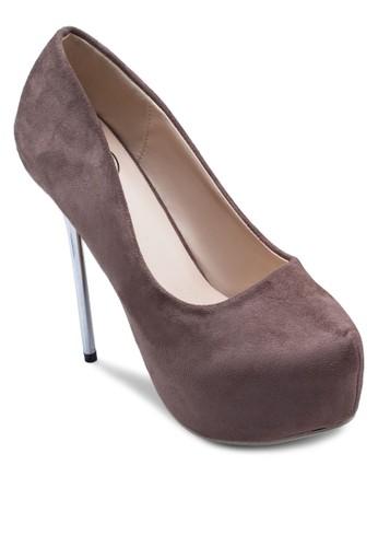 麂皮厚底高跟鞋, zalora開箱女鞋, 厚底鞋