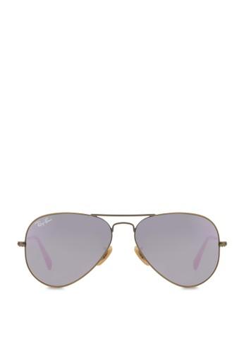 Aviator 反光太陽眼鏡, 飾品配件,zalora 心得 飾品配件