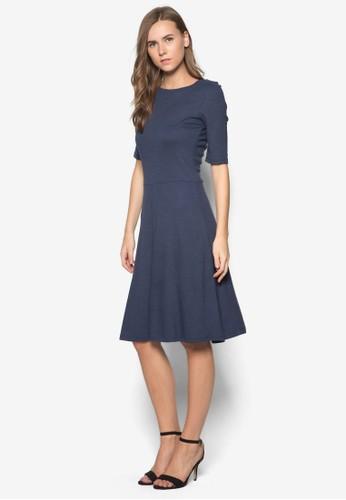 五分袖傘擺連身裙, 服飾esprit outlet, 及膝洋裝