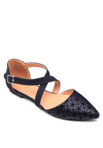 幾何圖形平底zalora 心得鞋, 女鞋, 芭蕾平底鞋