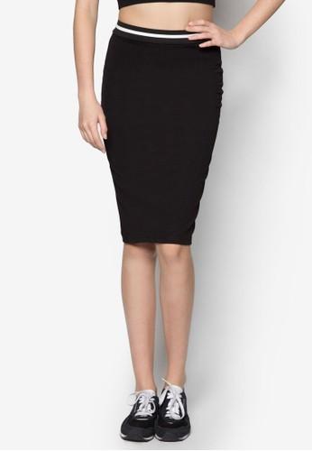 條zalora鞋子評價紋邊飾及膝短裙, 服飾, 裙子