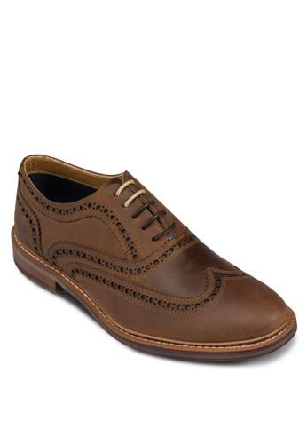 Gavedo 沖孔雕花布魯克皮鞋,zalora 台灣 鞋, 鞋