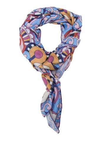 印花絲巾, 飾品配件, 披zalora 台灣肩