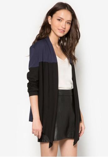 塊拼接開襟外套, 服飾,zalora 心得 毛衣& 針織外套