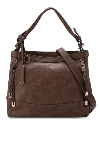 經典zalora時尚購物網的koumi koumiPU 肩背包, 包, 斜揹包