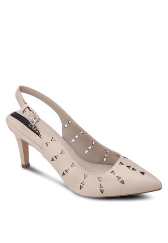 沖孔繞踝高跟鞋,zalora退貨 女鞋, 厚底高跟鞋