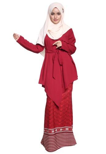Atiya Baju Kurung Kimono from Tulips & Thyme in Red