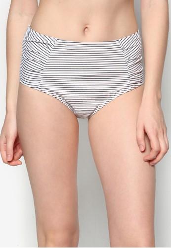 條紋高zalora taiwan 時尚購物網腰比基尼內褲, 服飾, 比基尼組