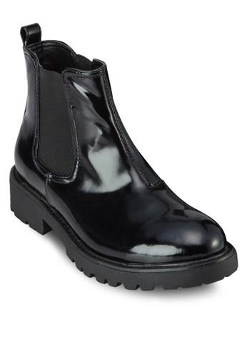 Whistler 亮面仿皮短靴zalora 台灣門市, 女鞋, 鞋