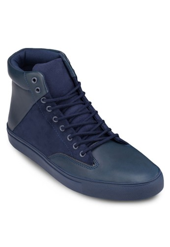 繫帶拼接高筒zalora退貨休閒鞋, 鞋, 休閒鞋