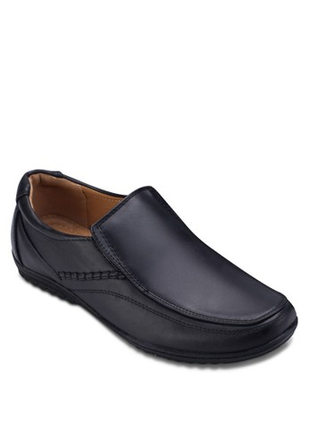 經典方頭zalora開箱紳士皮鞋, 鞋, 懶人鞋