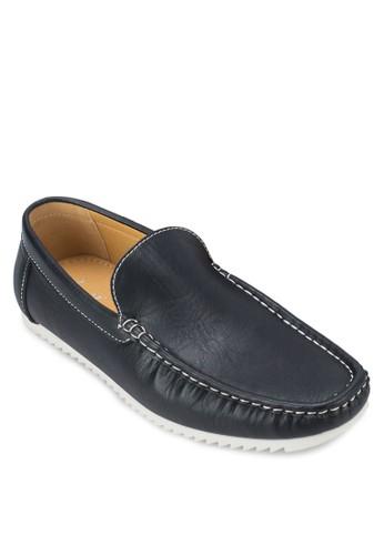 撞色仿皮樂福鞋, zalora 衣服尺寸鞋, 船型鞋