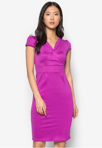 Pezalora 心得tite 裹飾緊身連身裙, 服飾, 洋裝